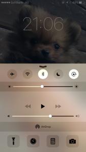 iPhoneコントロールパネル